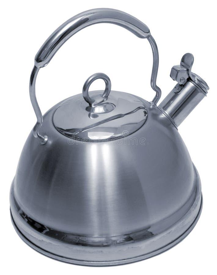 Teapot do aço inoxidável - isolado imagens de stock royalty free