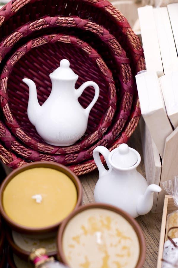Teapot dois cerâmico imagem de stock