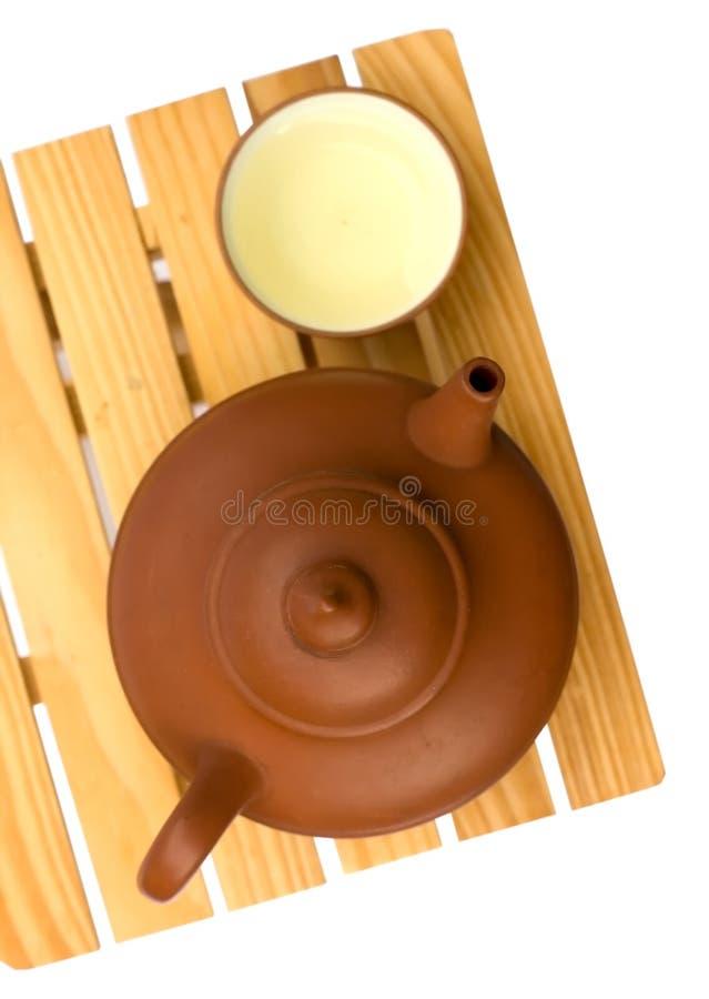 Teapot e teacup fotografia de stock