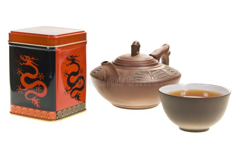 teapot för askkopptea fotografering för bildbyråer