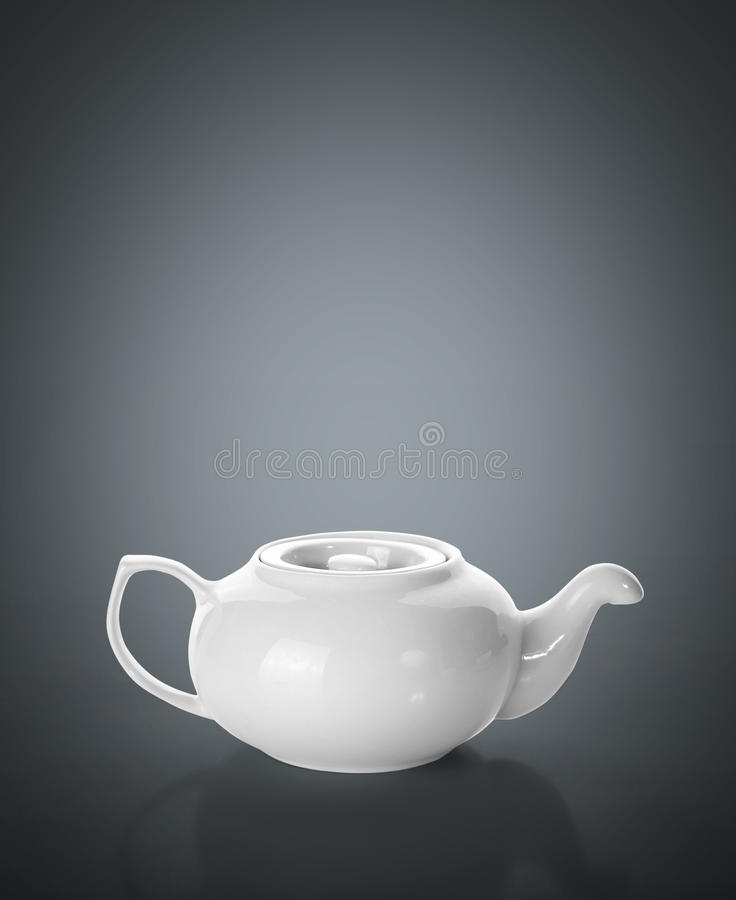 Teapot on grey royalty free stock photography