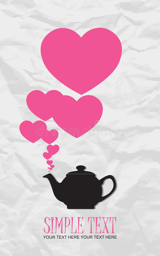 Teapot with hearts.