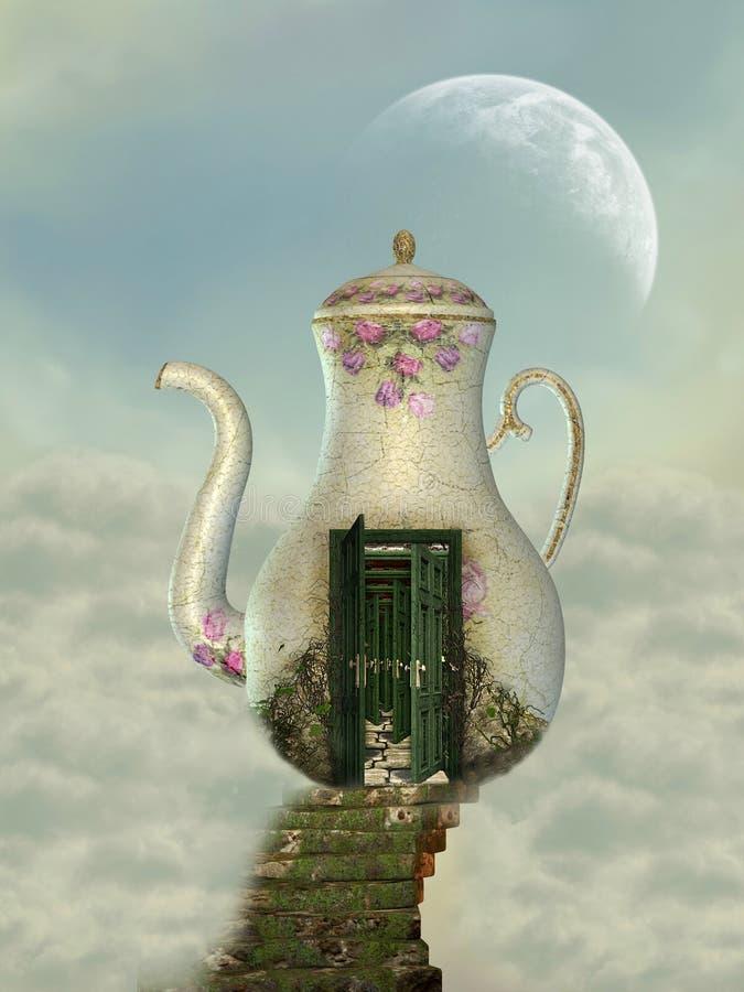 Teapot house royalty free illustration