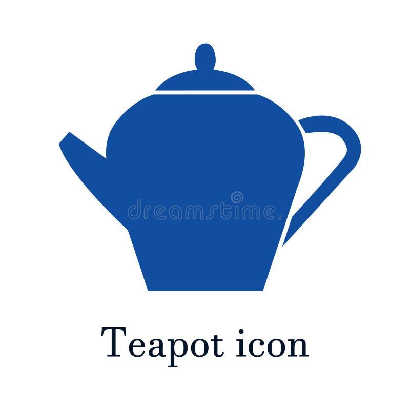 The teapot icon. Tea symbol. Flat Vector illustration stock illustration