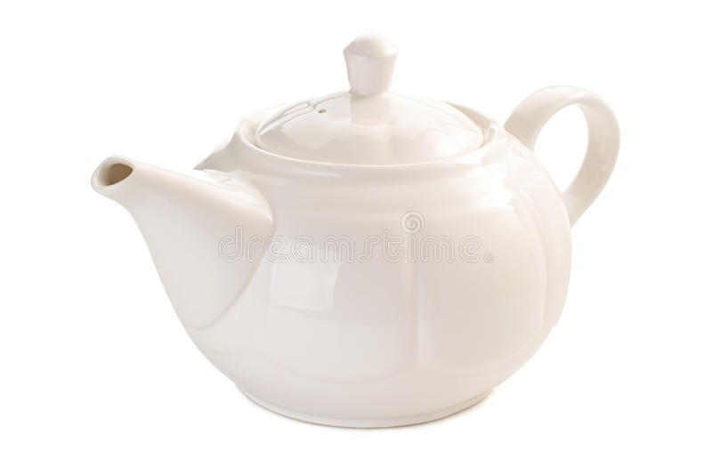 Teapot isolated on white stock photo
