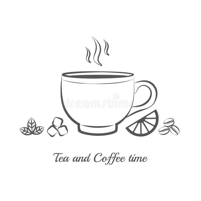 teapot kawowy mały herbaciany biel ilustracja wektor