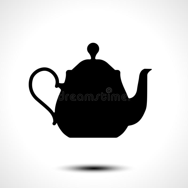 Teapot , kettle, tea kettle icon. Teapot , kettle, tea kettle vector icon royalty free illustration