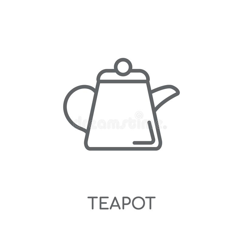 Outline Illustration Of Kitchen Teapot Vector Icon For Web Royalty Free  Cliparts, Vectors, And Stock Illustration. Image 94477289.