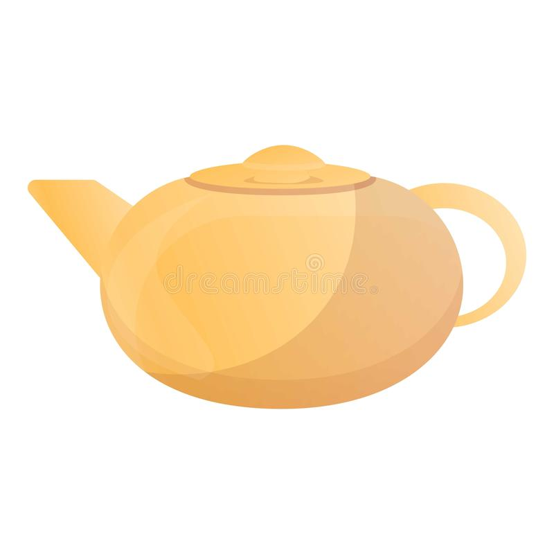 Teapot Matcha εικονίδιο, ύφος κινούμενων σχεδίων απεικόνιση αποθεμάτων
