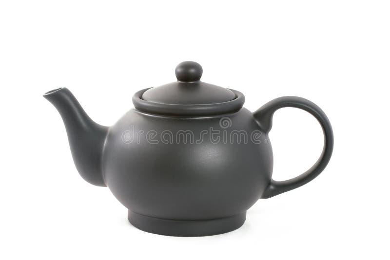 Teapot no preto imagens de stock royalty free