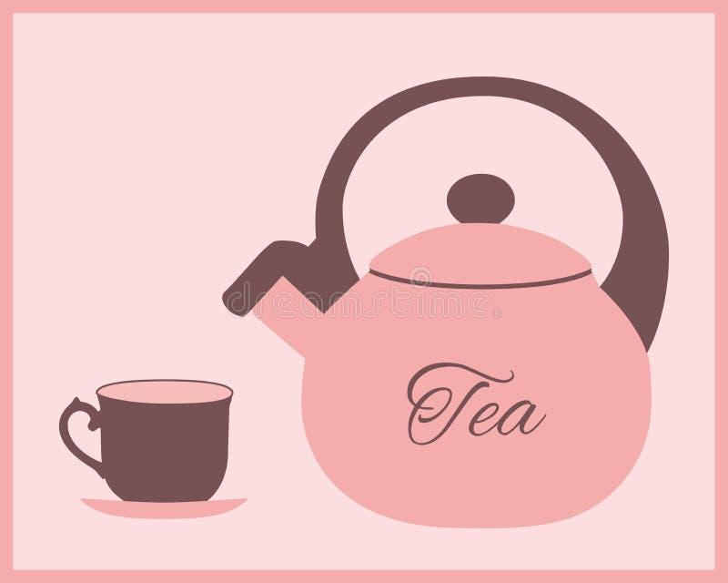 Teapot och teacup stock illustrationer