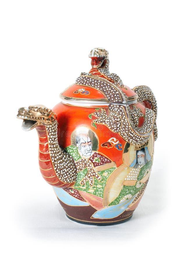 Teapot vermelho 2. foto de stock royalty free