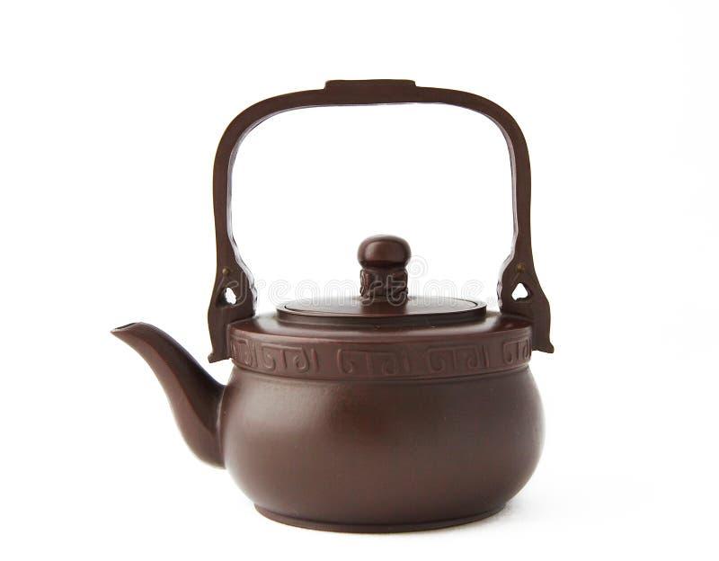 Teapot on white stock photo