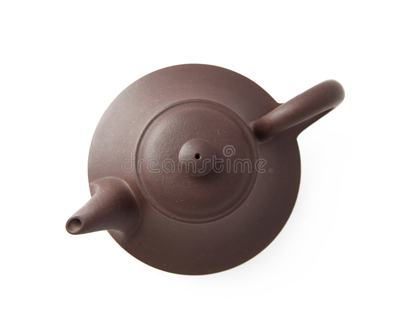 Teapot on white stock image