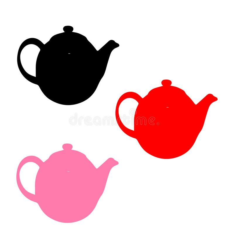teapots τρία Στοιχεία των πιάτων στοκ εικόνες
