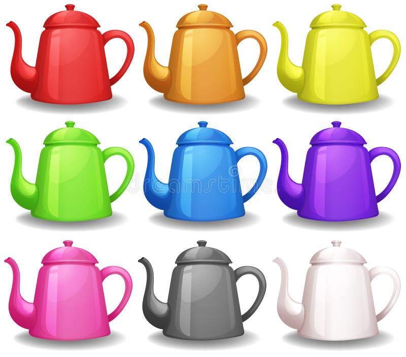 teapots ilustracja wektor