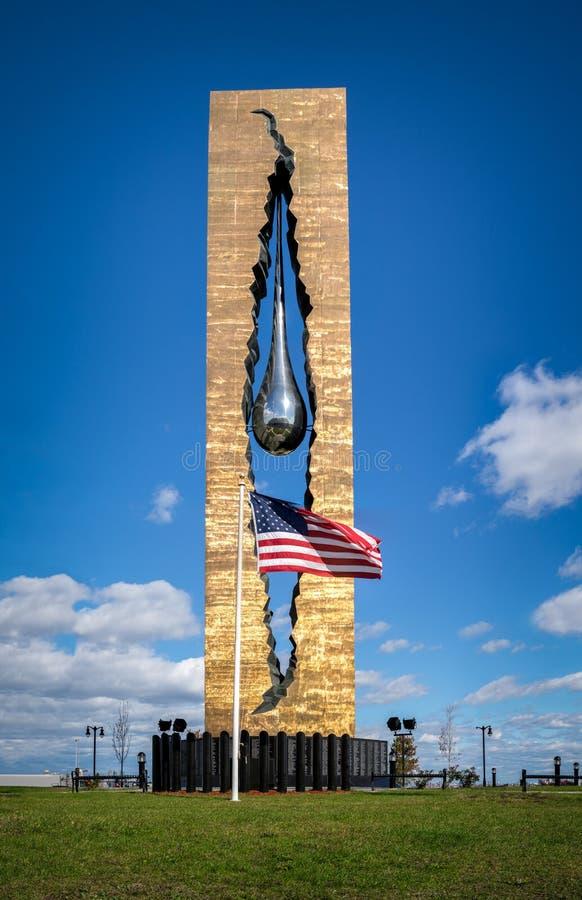 Free Tear Drop Memorial In Bayonne, New Jersey Stock Photo - 54756790
