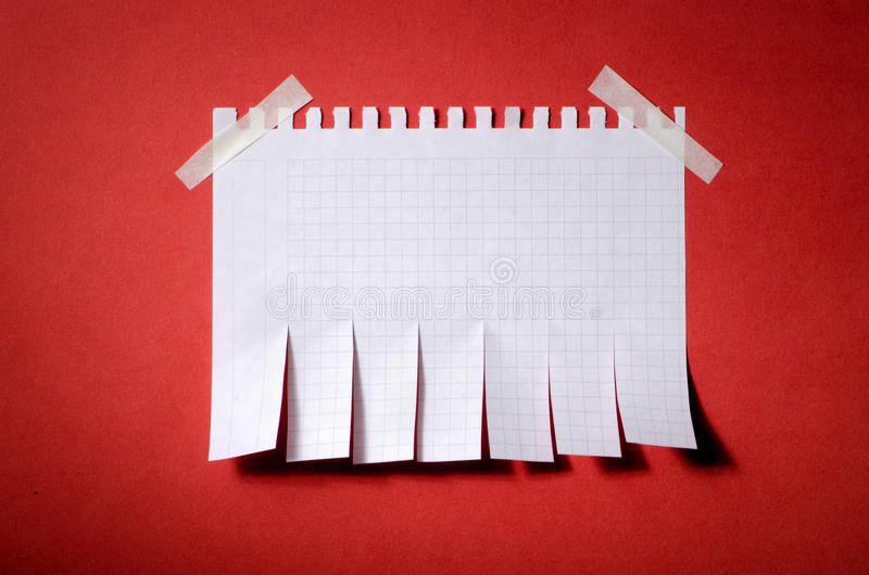 Tear off paper notice royalty free stock image