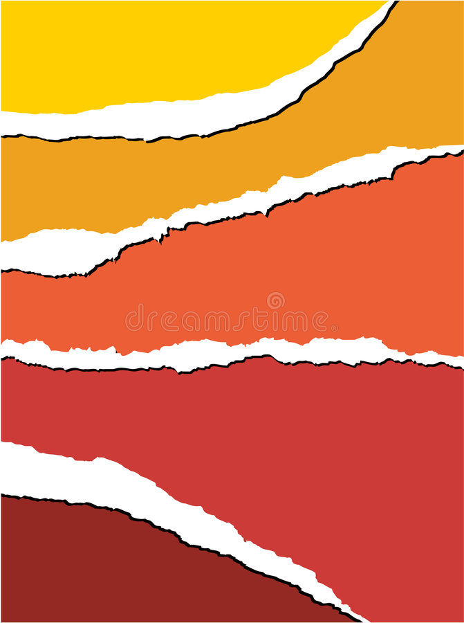 Tear paper - background. Tear paper - abstract background with warm colors