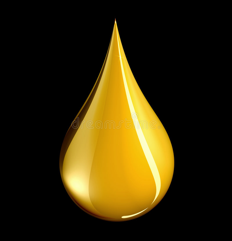 Free Tear Shaped Gold Drop - With Clipping Path Stock Images - 6461004