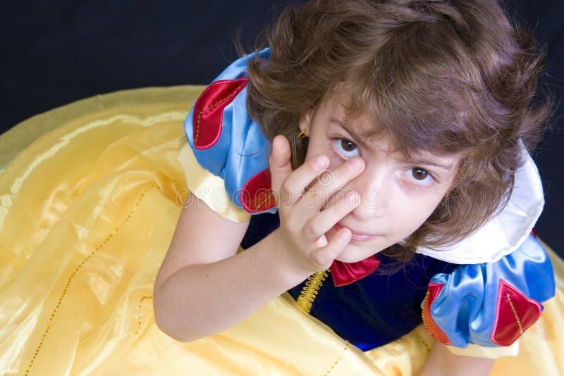tearful barn arkivbild
