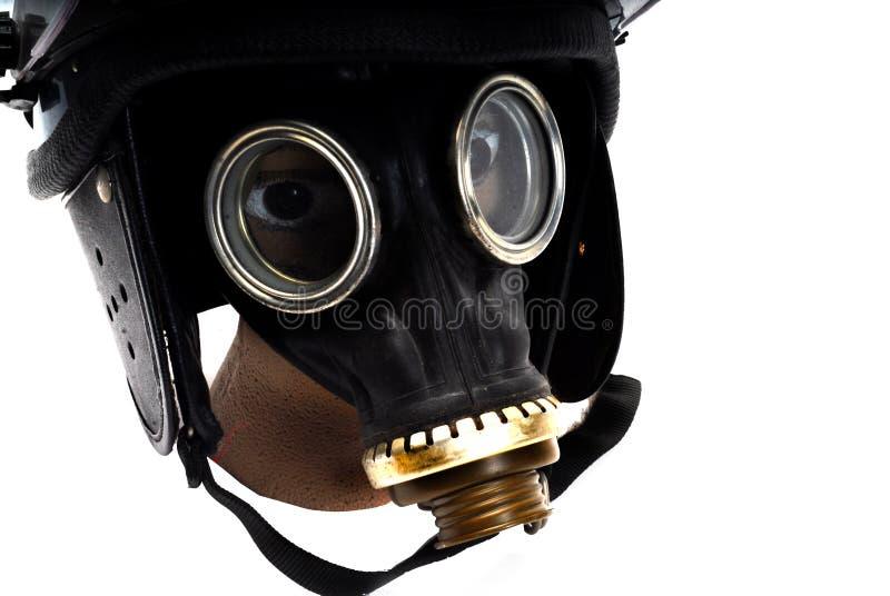 Teargass maska fotografia stock