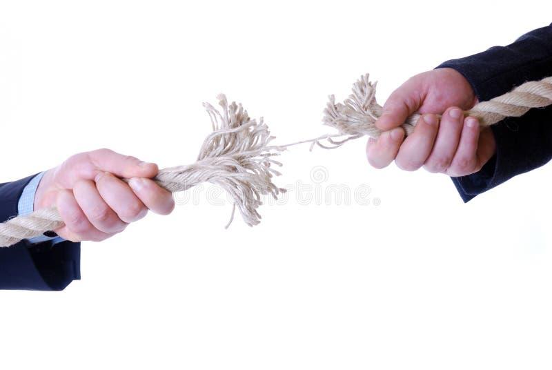Tearing cord royalty free stock photos
