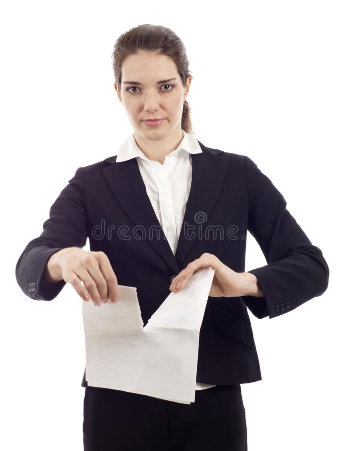 Tearing Up Contract royalty free stock image