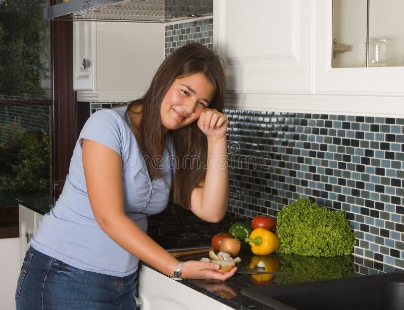 unloading the dishwasher stock image  image of happy