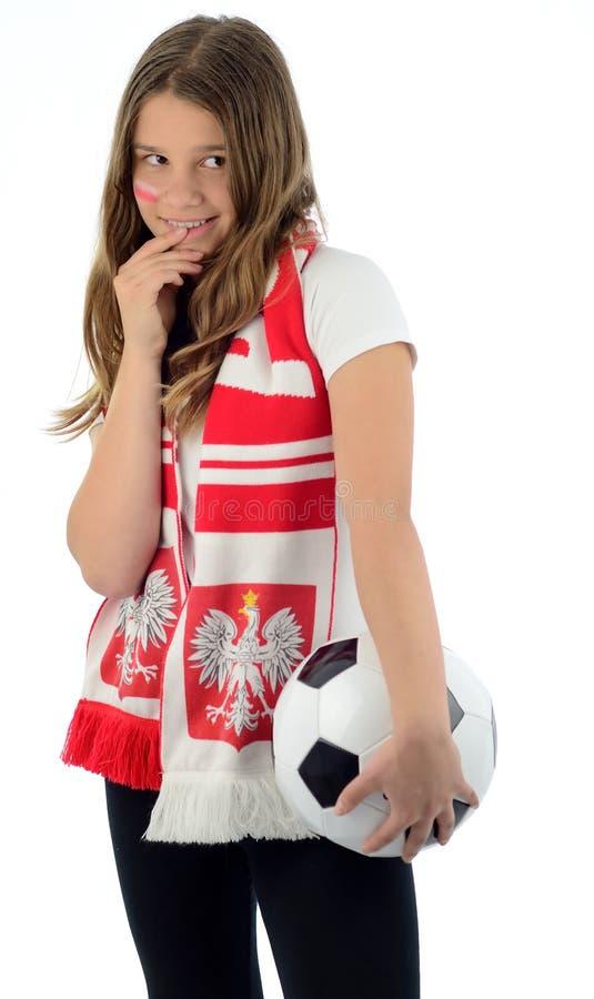 Teaser Polish football fan stock images