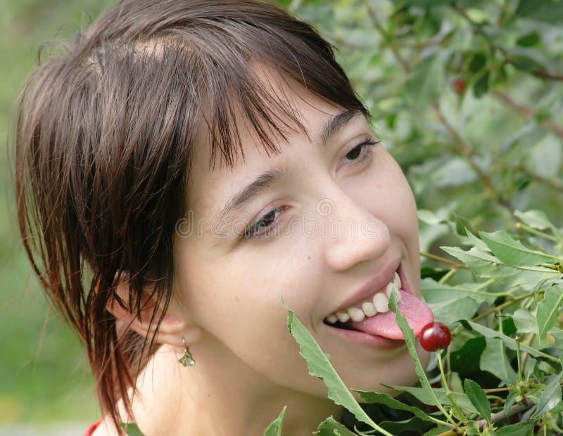 Download Teasing stock photo. Image of head, leaf, dessert, lips - 2907552