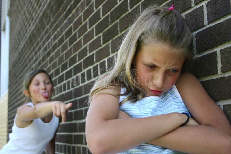 Teasing Girls stock images