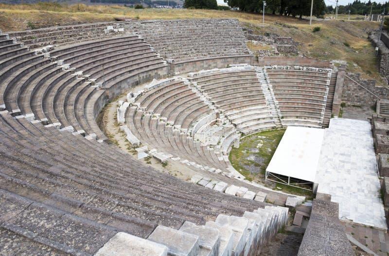 Teater av Asklepion royaltyfria foton