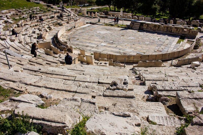 Teater av Dionysus den partiska sikten royaltyfria foton