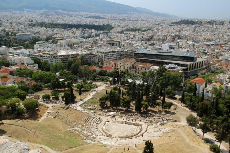 Teater av Dionysus Eleuthereus, Aten royaltyfri bild