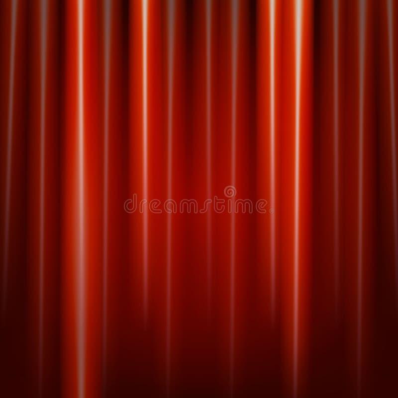 teater för etapp för show för begreppsgardinpresentation röd vektor illustrationer