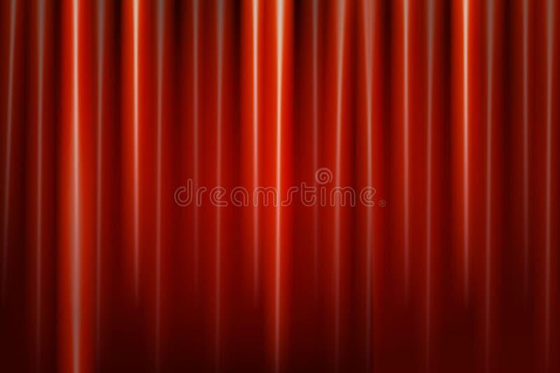 teater för etapp för show för begreppsgardinpresentation röd stock illustrationer