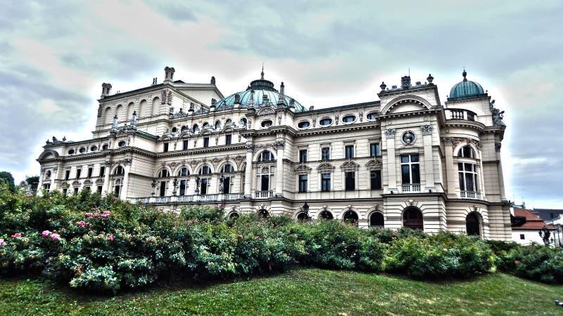 Teater för Juliusz SÅ 'owacki i Cracow royaltyfri bild