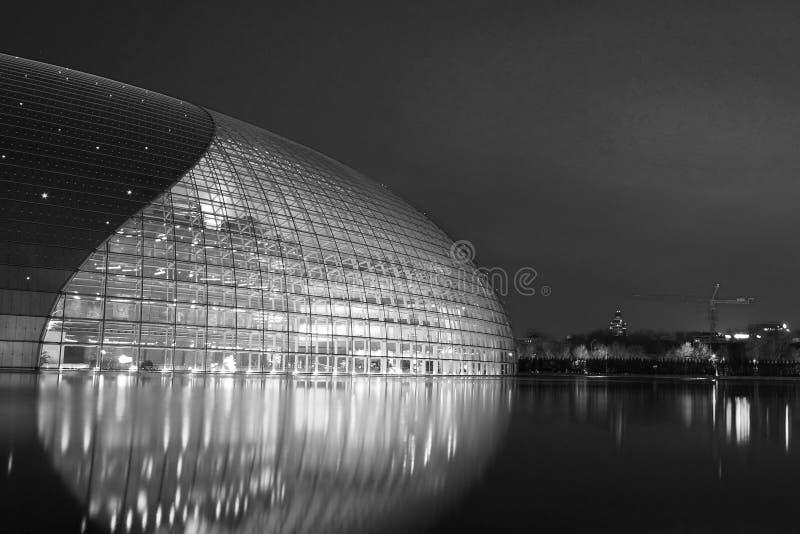 Teater för nationell tusen dollar för Peking arkivfoto