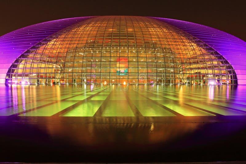 Teater för nationell tusen dollar för Peking arkivbild