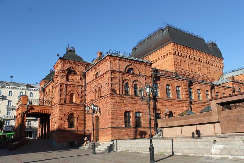 Teater i Mogilev, Vitryssland royaltyfria foton