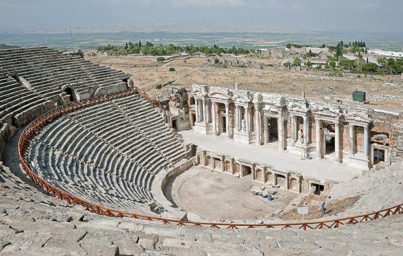 Teater i Pamukkale, Turkiet arkivfoton