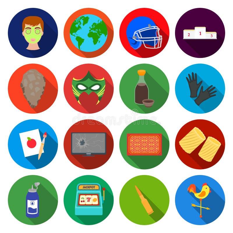 Teater, information, sport och annan rengöringsduksymbol stock illustrationer