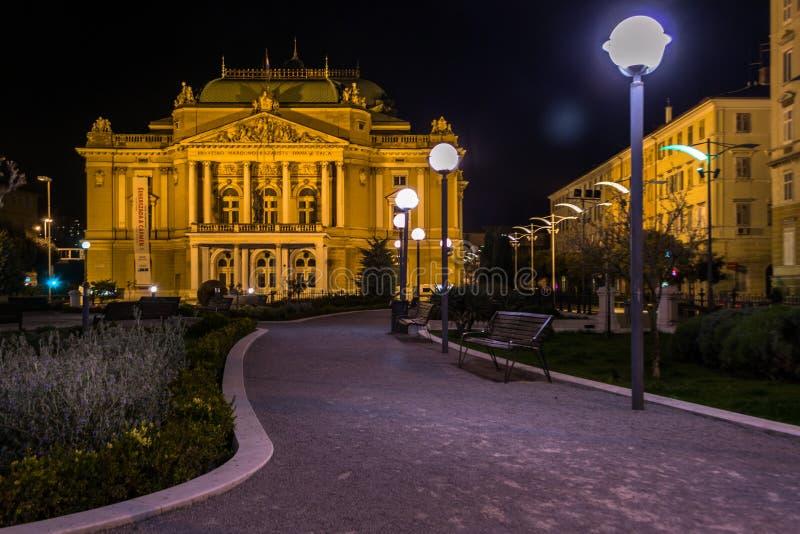 Teater på natten arkivbilder