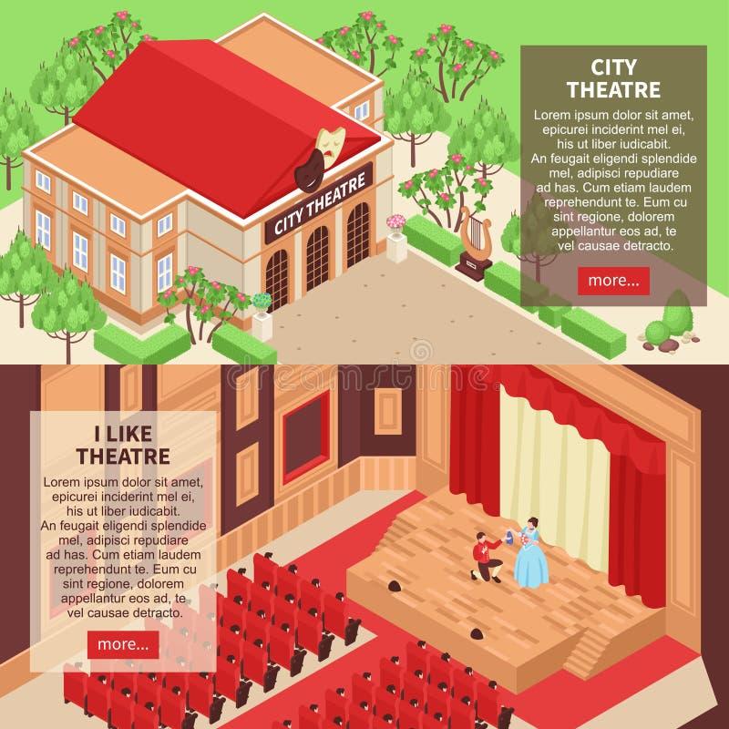 Teaterbaneruppsättning royaltyfri illustrationer