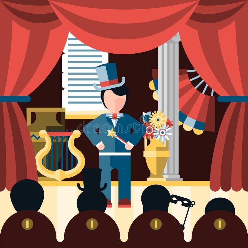Teaterlekbegrepp royaltyfri illustrationer