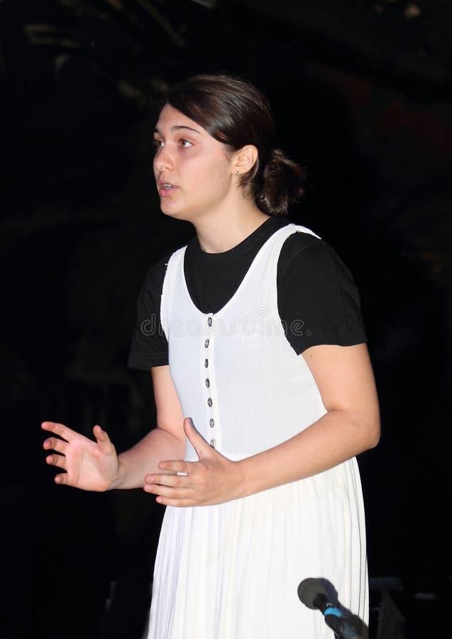 Teaterskådespelare royaltyfria foton