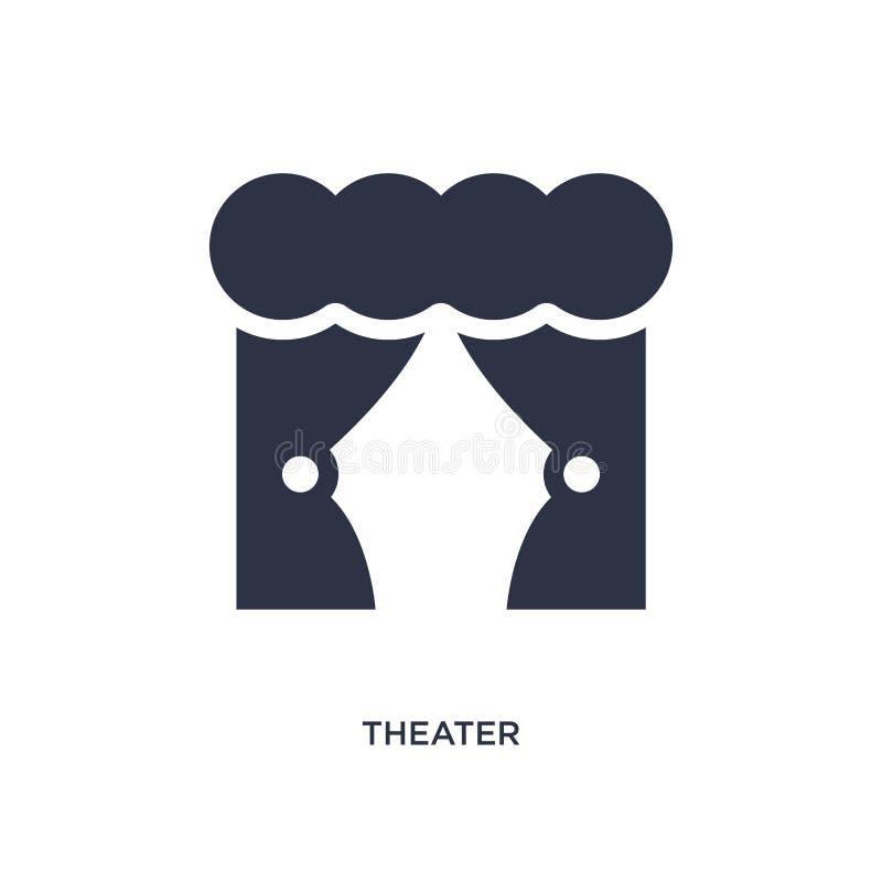 teatersymbol på vit bakgrund Enkel beståndsdelillustration från avläggande av examen- och utbildningsbegrepp royaltyfri illustrationer