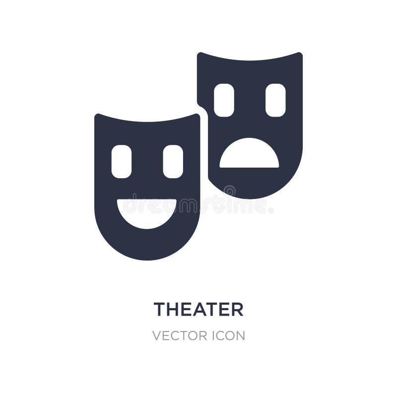 teatersymbol på vit bakgrund Enkel beståndsdelillustration från teknologibegrepp royaltyfri illustrationer