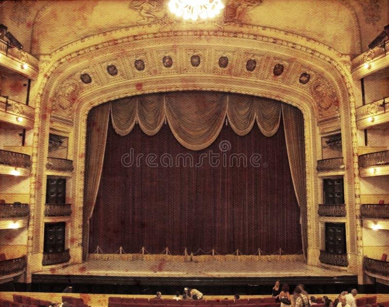 teatertappning royaltyfri bild